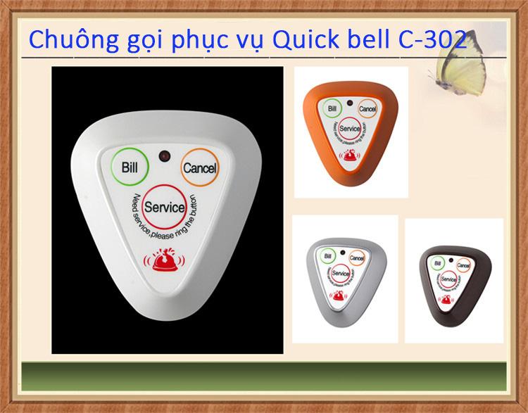 nút chuông gọi phục vụ quickbell c-300