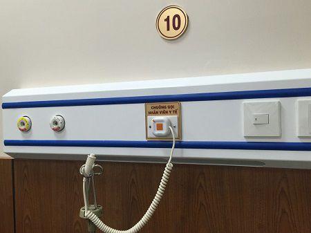 dich vụ thay pin hệ thống báo gọi y tá trong trường hợp còn bảo hành